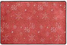 FANTAZIO Teppich mit Schneeflocken-Motiv,