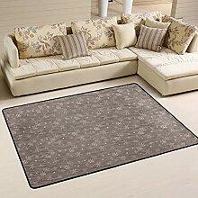 FANTAZIO Teppich mit Schneeflocken-Muster, gerader