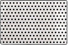 FANTAZIO Teppich mit schwarzen Punkten und weißen