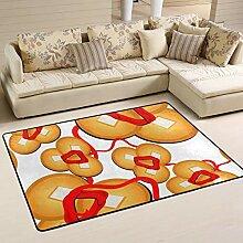 Fantazio Teppich mit süßem Kupfer-Muster,