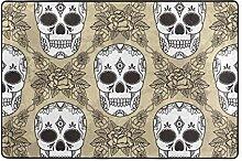 Fantazio Teppich mit Totenkopf-Motiv, gerader