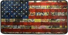 FANTAZIO Teppich mit USA-Flagge, rutschfeste