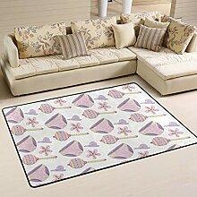 FANTAZIO Teppich mit violettem Höschen und