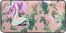 FANTAZIO Teppich mit Vogelmuster, rutschfeste