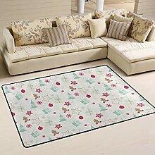 Fantazio Teppich mit weihnachtlichem Muster,