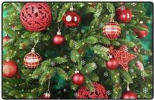 FANTAZIO Teppich mit weihnachtlichem Vibe-Muster,