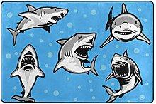 Fantazio Teppich mit weißem Hai für Ecken und