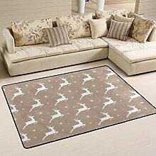 FANTAZIO Teppich mit weißem