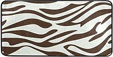 FANTAZIO Teppich mit Zebramuster, rutschfest, für