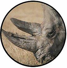 FANTAZIO Teppich, rund, afrikanischer
