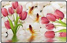 FANTAZIO Teppich Tulpenblüten mit