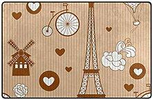 FANTAZIO Teppich-Zubehör, Eiffelturm, für
