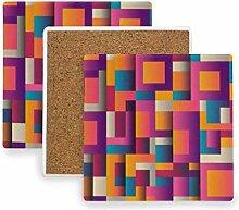 FANTAZIO Untersetzer mit abstrakten Drucken, für