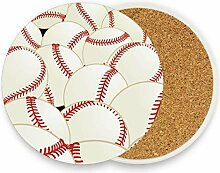 FANTAZIO Untersetzer mit Baseballdruck, für