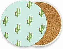 FANTAZIO Untersetzer mit Kaktus-Muster, für