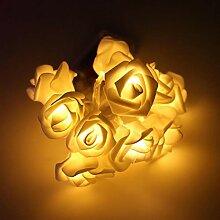 Fantiff Solar-Rosen-Blumen-Lichterkette, für den