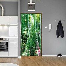 Fantxzcy 3D-Aufkleber für Tür, Wandkunst, grüne