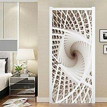 Fantxzcy 3D-Aufkleber für Tür, Wandkunst,