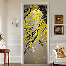 Fantxzcy 3D Tür Aufkleber Mass Angefertigt Tür