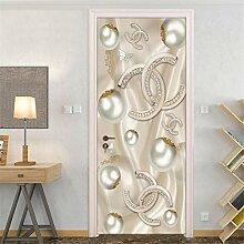 Fantxzcy 3D Tür Aufkleber Wandbild Tapete Pvc