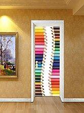 Fantxzcy 3D-Tür-Aufkleber, Wandkunst,