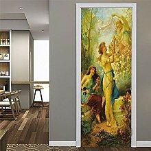 Fantxzcy 3D-Tür-Aufkleber, Wandkunst, PVC, Tür,