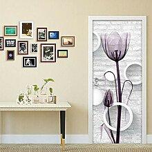 Fantxzcy 3D-Tür-Aufkleber, Wandkunst, PVC,