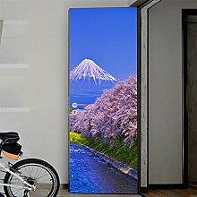 Fantxzcy 3D Türaufkleber Wandbild Tapete Modern