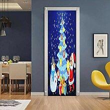 Fantxzcy 3D Türtapete Selbstklebend Blauer
