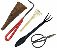 Fanuse Bonsai Werkzeug Kit 5 Teiliges Basis Pflege
