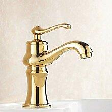 FAPPT Wasserhahn Badarmaturen Golden Finish
