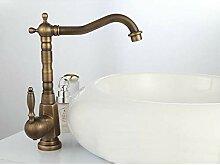 FAPPT Wasserhahn Einhand Antik Messing Centerset
