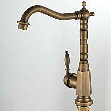 FAPPT Wasserhahn Küchenarmatur Antik Messing