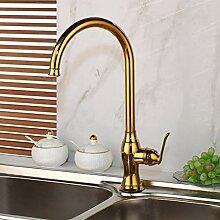 FAPPT Wasserhahn Luxus Gold Küchenarmatur Gold