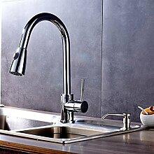 FAPPT Wasserhahn Luxus herausziehen Chrom