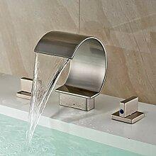 FAPPT Wasserhahn Nickel gebürstet verbreitet 3Pcs