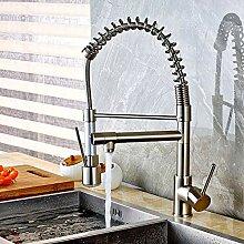 FAPPT Wasserhahn Nickel Küchenarmatur Led
