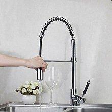 FAPPT Wasserhahn Pull-Down-Küchenarmatur,