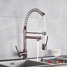 FAPPT Wasserhahn Rose Gold Spring Küchenarmatur