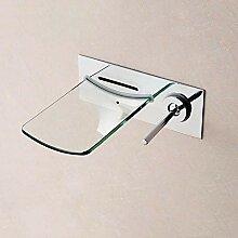 FAPPT Wasserhahn Wand Messing Led Unterputz Glas