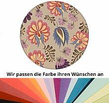 Farbanpassung der edlen florale Tapete mit großen folklore Blüten - Vlies Tapete Blumen - sie kaufen die Dienstleistung der Farbanpassung und Druckdaten Erstellung - SIE KAUFEN KEINE Tapete