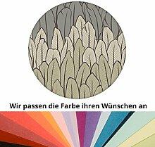 Farbanpassung der eleganten Streifen-Tapete mit Federn - Vlies Tapete Streifen - sie kaufen die Dienstleistung der Farbanpassung und Druckdaten Erstellung - SIE KAUFEN KEINE Tapete