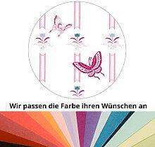 Farbanpassung des Streifen-Tapeten Motivs mit chinesischen Schmetterlingen - sie kaufen die Dienstleistung der Farbanpassung und Druckdaten Erstellung - SIE KAUFEN KEINE Tapete