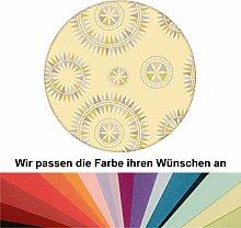 Farbanpassung: Grafisch moderne Tapete Windrose