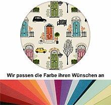 Farbanpassung: lustige Tapete Belgravia mit Londoner Türen, Mini und Cabs - sie kaufen die Dienstleistung der Farbanpassung und Druckdaten Erstellung - SIE KAUFEN KEINE Tapete