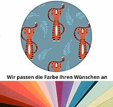 Farbanpassung: motivierende Kinder Jugend Tapete mit lustigem Sieger Tiger - sie kaufen die Dienstleistung der Farbanpassung und Druckdaten Erstellung - SIE KAUFEN KEINE Tapete
