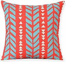Farbe Baumwolle Kissen Kissen quadratisch Sofa Bett Kissen-D 53x53cm(21x21inch)VersionB