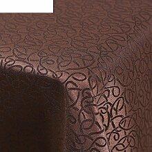 Farbe: dunkel kaffee farbe,die tischdecke für tagungsraum,rechteck,restaurant hotel tischtuch,office tischdecke,dicken tabelle tuchgewebe,intoleranz schmutzig-B 140x140cm(55x55inch)
