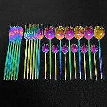 Farbe Edelstahlgeschirr-Set, Küchenspiegel,