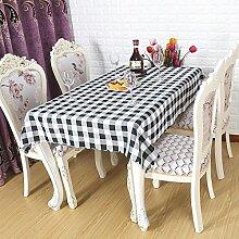 farbe gitter Tischdecke hochzeit Hotel Couchtisch Esstisch Geschirr dekoration Staub Tuch , black , 120*160cm